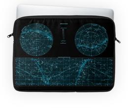 """Чехол для ноутбука 14'' """"Карта звёздного неба"""" - карта, дизайн, звёзды"""