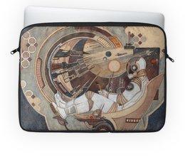 """Чехол для ноутбука 14"""" """"Окно в Бесконечность"""" - космос, фантастика, вселенная, астронавт, космонавт"""