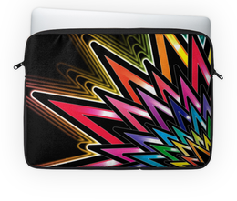 "Чехол для ноутбука 14'' ""Цветная звезда"" - арт, звезда, цвета, графика, лучи"