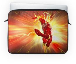 "Чехол для ноутбука 14'' ""Флэш (Flash)"" - flash, комиксы, dc comics, флэш"