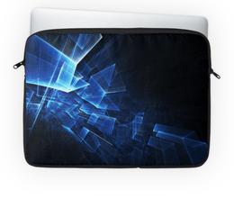 """Чехол для ноутбука 14'' """"Неоновые квадраты"""" - арт, графика, абстракция, неон, квадраты"""