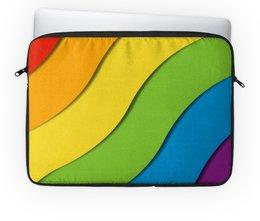 """Чехол для ноутбука 14"""" """"Радуга"""" - лгбт, орнамент, стиль, узор, абстрактный"""