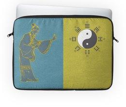 """Чехол для ноутбука 14"""" """"Великий Предел (太極)"""" - монада, монах, инь-ян, дао, китай"""