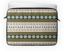 """Чехол для ноутбука 14'' """"Скандинавский узор"""" - узор, зима, орнамент, олень, снежинка"""