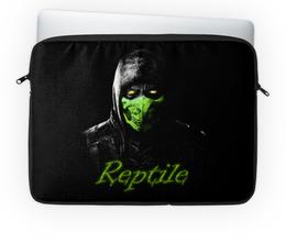 "Чехол для ноутбука 14'' ""Reptile"" - ninja, reptile, mortal, kombat"