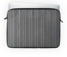 """Чехол для ноутбука 14'' """"Вертикальная полоска"""" - полоска, белый, чёрный, иллюзия"""