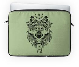 """Чехол для ноутбука 14'' """"Тотем. Волк"""" - графика, волк, тотем"""