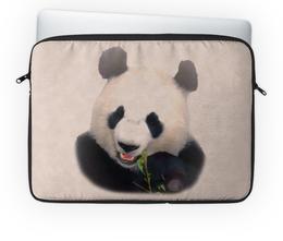 """Чехол для ноутбука 14'' """"Панда"""" - медведь, панда, черно-белый, китай, бамбуковый"""