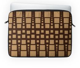 """Чехол для ноутбука 14'' """"Геометрия"""" - фигура, треугольник, квадрат, геометрия, коричневый"""