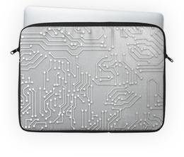 "Чехол для ноутбука 14'' ""Микросхема"" - компьютер, электроника, плата, чип, микросхема"