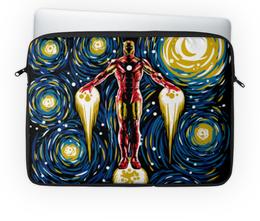 """Чехол для ноутбука 14'' """"Железный человек"""" - супергерои, marvel, марвел, железный человек, iron man"""