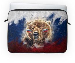 "Чехол для ноутбука 14"" ""Русский Медведь"" - флаг, триколор, россия, футбол, медведь"