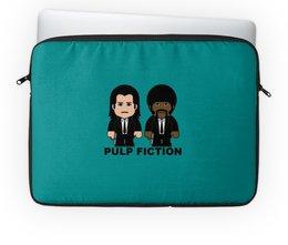 """Чехол для ноутбука 14"""" """"Pulp Fiction"""" - тарантино, криминальное чтиво, джон траволта, сэмюэл лерой джексон, культовое кино"""