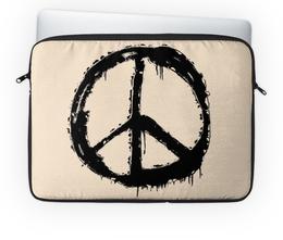 """Чехол для ноутбука 14'' """"Хиппи"""" - любовь, мир, хиппи, пацифик"""