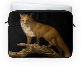 """Чехол для ноутбука 14"""" """"Лисица"""" - арт, ночь, природа, лиса, животное"""