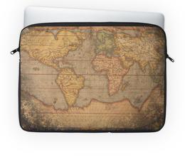 """Чехол для ноутбука 14'' """"Карта Мира"""" - мир, карта"""