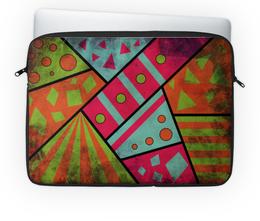 """Чехол для ноутбука 14'' """"Яркая геометрия"""" - полосы, круги, геометрия, треугольники"""