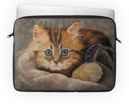 """Чехол для ноутбука 14'' """"котенок Фантик"""" - котенок, котики, няшный, прикольный подарок, джинцы"""