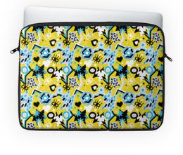 """Чехол для ноутбука 14"""" """"Поп арт дизайн. Глаза сердце звезды паттерн"""" - яркий, классный, смешной, прикольный, юморной"""
