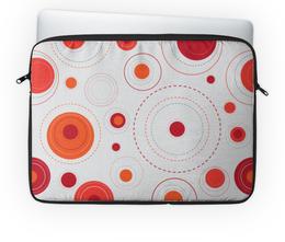 """Чехол для ноутбука 14'' """"Круглые абстракции"""" - узор, рисунок, абстракция, круги, круглый"""