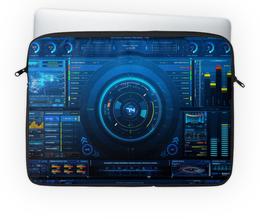"""Чехол для ноутбука 14'' """"HI-TECH"""" - технологии, hi-tech"""