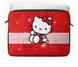 "Чехол для ноутбука 14"" ""Hello Kitty с искрами"" - кошечка, искры, hello kitty, мультфильм, для детей"