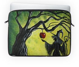 """Чехол для ноутбука 14'' """"Заколдованное яблоко"""" - сказка, яблоко, колдунья, сувенир ко дню всех влюблённых, футляр для ноута"""