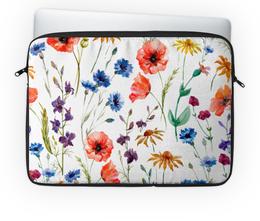 """Чехол для ноутбука 14'' """"Полевые цветы"""" - красиво, цветы, природа, полевые цветы"""