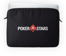 "Чехол для ноутбука 14'' ""POKERSTARS"" - покер, казино, pokerstars, casino, full tilt poker"