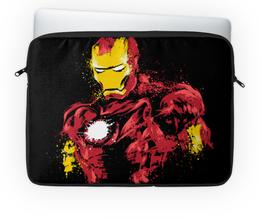 """Чехол для ноутбука 14'' """"Железный человек"""" - супергерои, marvel, марвел, железный человек"""