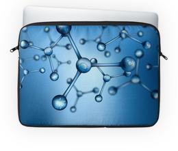 "Чехол для ноутбука 14'' ""Молекула"" - химия, молекула, атом, нано, частица"