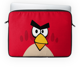 "Чехол для ноутбука 14'' ""Angry Birds (Terence)"" - птички, компьютерная игра, мультфильм, terence, angry birds"