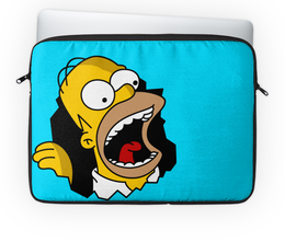 "Чехол для ноутбука 14'' ""Гомер Симпсон"" - simpsons, homer, прикольные, гомер симпсон, симпспоны"