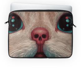 """Чехол для ноутбука 14"""" """"Кот / Cat"""" - кот, cat, фантастика, иллюстрация, животные"""
