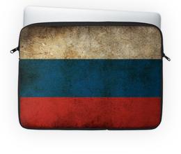 """Чехол для ноутбука 14'' """"Россия"""" - страна, россия, флаг"""