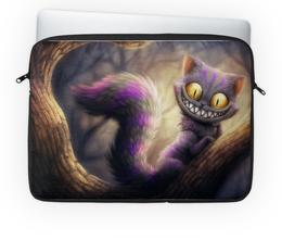 """Чехол для ноутбука 14'' """"Чеширский кот"""" - кот, мульт, алиса в стране чудес"""