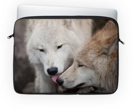 "Чехол для ноутбука 14'' ""Волки"" - фото, волк"