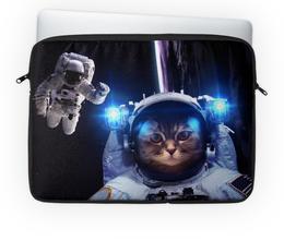 """Чехол для ноутбука 14'' """"Кот космонавт"""" - кот, космос, thespaceway"""