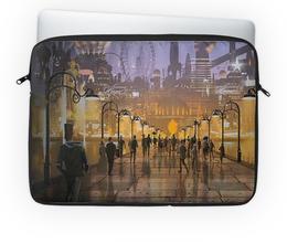 """Чехол для ноутбука 14'' """"Мегаполис"""" - город, парк, площадь, мегаполис"""