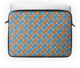 """Чехол для ноутбука 14'' """"Овальный узор"""" - узор, серый, голубой, рыжий, овал"""