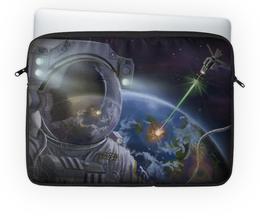 """Чехол для ноутбука 14"""" """"Космонавт"""" - арт, космонавт, космос, планета"""