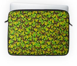 """Чехол для ноутбука 14'' """"Ornithoptera"""" - бабочки, природа, текстура, фон"""