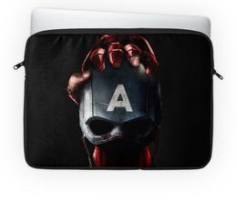 """Чехол для ноутбука 14'' """"Капитан Америка (Железный Человек)"""" - iron man, captain america"""