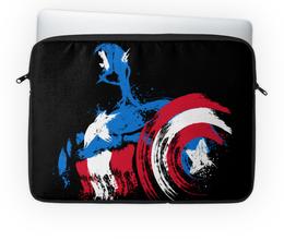 "Чехол для ноутбука 14'' ""Капитан Америка"" - супергерои, marvel, марвел, капитан америка"