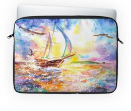 """Чехол для ноутбука 14"""" """"Путешествие"""" - путешествие, море, корабль, парус, яхта"""