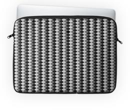 "Чехол для ноутбука 14'' ""Три оттенка серого"" - узор, серый, геометрия, ромб, фон"