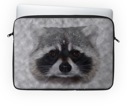 """Чехол для ноутбука 14'' """"Енот  """" - медведь, серый, собака, полоскун, псовые"""