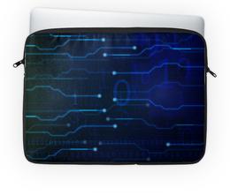 """Чехол для ноутбука 14'' """"Матрица"""" - матрица, код, цифры, чип, микросхема"""