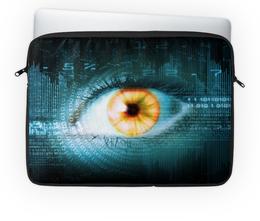 "Чехол для ноутбука 14'' ""Могучий глаз"" - глаз, шпион, слежка, око"