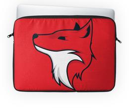 """Чехол для ноутбука 14"""" """"Fox / Лиса"""" - fox, лиса, животные, красный, арт"""